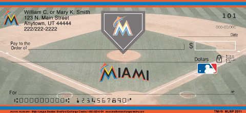 Miami Marlins Major League Baseball Personal Checks