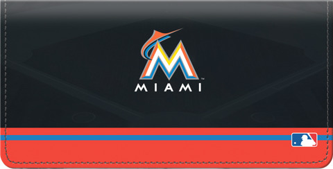 Miami Marlins Logo Checkbook Cover