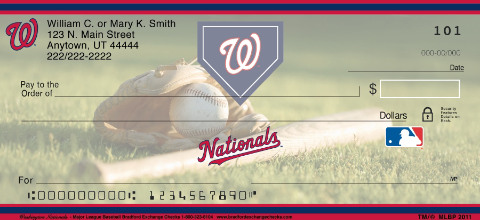 Washington Nationals(TM) Major League Baseball(R) Personal Check Designs
