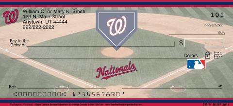 Washington Nationals Major League Baseball Personal Checks