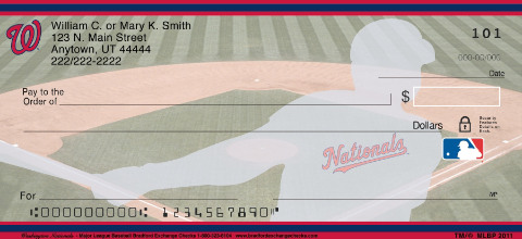 Washington Nationals Major League Baseball Personal Checks