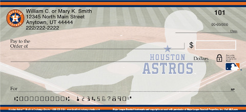 Houston Astros Major League Baseball Personal Checks
