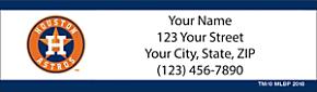 Houston Astros(TM) MLB(R) Return Address Label