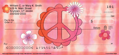 Peace Signs Personal Checks