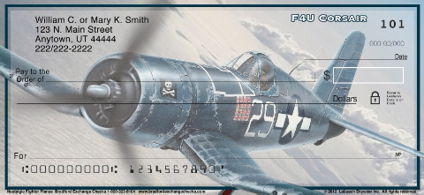 Nostalgic Fighter Planes Personal Check Designs