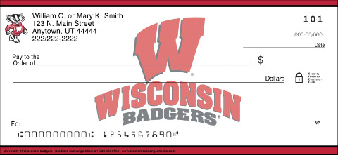 University of Wisconsin Personal Check Designs