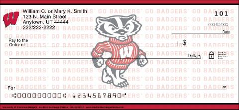 University of Wisconsin Badgers Checks