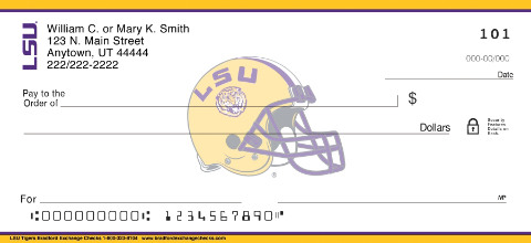 Louisiana State University Personal Check Designs
