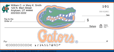 University of Florida Personal Check Designs