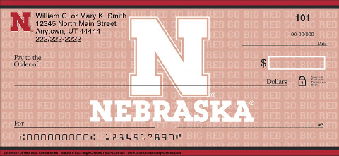 University of Nebraska Cornhuskers Checks