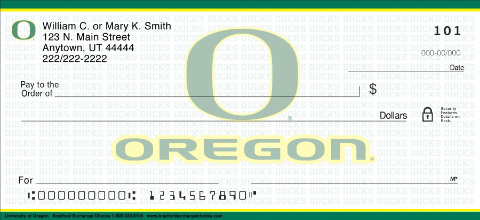 University of Oregon Ducks Checks