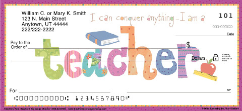 Teachers Rule Personal Check Designs