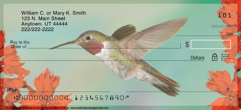 Hummingbirds Personal Check Designs