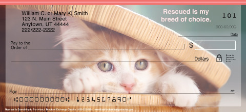 Rescued is Something to Purr About Personal Checks