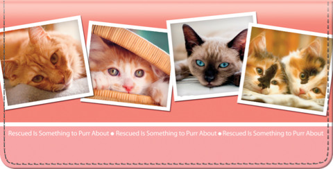 Rescued is Something to Purr About Checkbook Cover