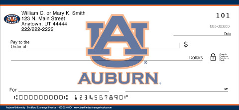 Auburn University Personal Check Designs