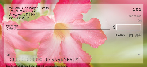Beautiful Blooms Personal Check Designs