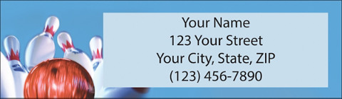 Bowling Return Address Label