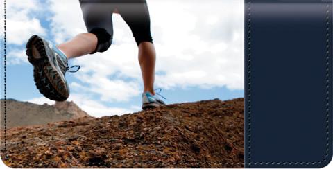 Running Checkbook Cover