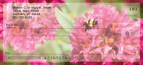 Bumble Bee Buzz Personal Check Designs