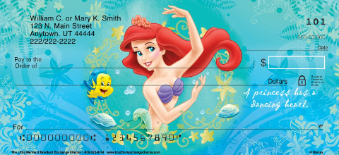 The Little Mermaid Personal Check Designs