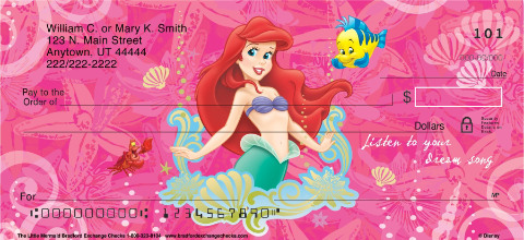 The Little Mermaid Personal Checks