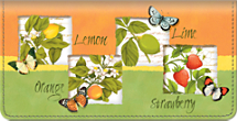 Botanical Fruits Checkbook Cover