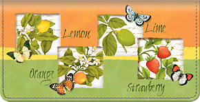 Botanical Fruits Checkbook Cover