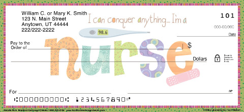 Nurses Rule Personal Check Designs