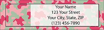 Pink Camo Return Address Label