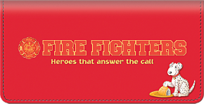 Fire Fighting Checkbook Cover
