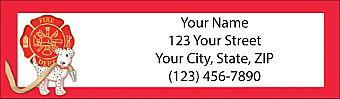 Fire Fighting Return Address Label