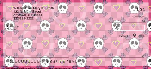 Sweet Skullz Personal Checks