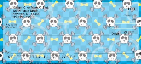 Sweet Skullz Personal Checks