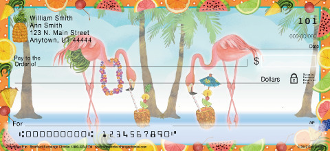 Flamingo Fun Personal Checks