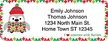 Autism: Imagine Holiday Return Address Label