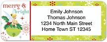Disney Tinkerbell Holiday Return Address Label