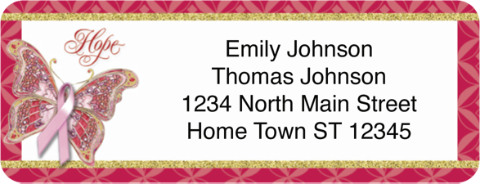 On the Wings of Hope Holiday Return Address Label