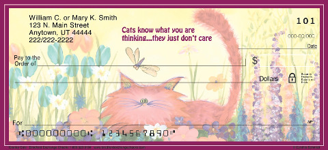 Comical Cats Personal Checks