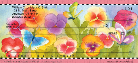 Floral Flutters Personal Checks