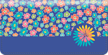 Retroflection Flowers Checkbook Cover