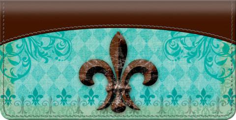 Fleur De Lis Checkbook Cover