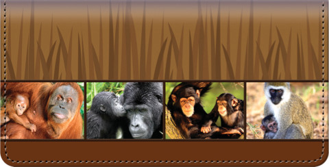 Protect the Primates Checkbook Cover