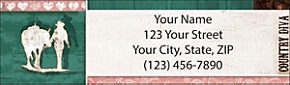 Country Diva Return Address Label