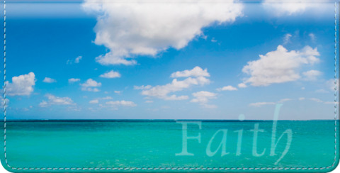 Oceans of Faith Checkbook Cover