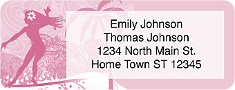 Surfer Girl Return Address Label