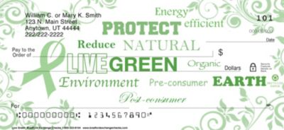 Live Green Personal Checks