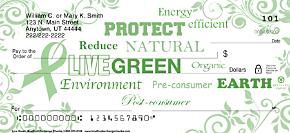 Live Green Personal Checks