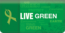 Live Green Checkbook Cover