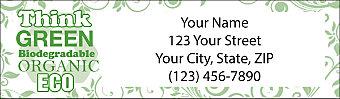 Live Green Return Address Label